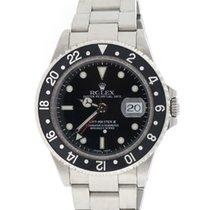 Rolex GMT-Master II Black Dial 40mm Steel Mens Watch 16710
