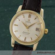 Omega 14k Gold Seamaster Calendar Herrenuhr Automatik Vintage