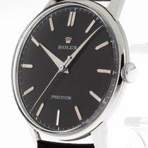 Rolex Precision Handaufzug Stahl an Lederband Ref.4363