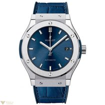 Hublot Classic Fusion Titanium Leather Quartz Men's Watch