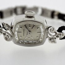 Longines Vintage Ladies solid 14K Gold Diamonds from 1972 Box...