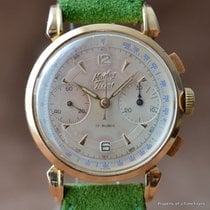 Mathey-Tissot 18K VALJOUX 22 1950s FLARED LUGS 36MM x 48MM...