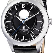 Perrelet Moonphase Black Dial Stainless Steel