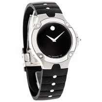 Movado S.E. Sports Edition Mens Rubber Band Swiss Quartz Watch...