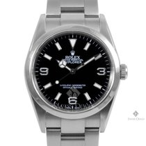Rolex Explorer Stainless Steel Black Index Dial Smooth Bezel...