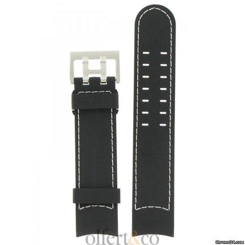汉米尔顿 (hamilton) khaki x-wind kautschukband schwarz 22mm h600