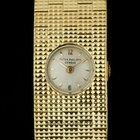 Patek Philippe 18k Yellow Gold Silver Dial Vintage Ladies...