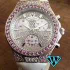 Technomarine Diva 18k white gold diamonds and pink sapphires