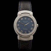 Rolex Cellini Diamond Bezel 18k White Gold Ladies 6671