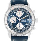 Breitling Navitimer Ii Automatic Steel Blue Strap Mens Watch...