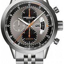 Raymond Weil Automatic chronograph Titanium on steel 7745-TI-0...