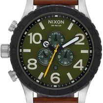 Nixon A124-2334 51-30 Chrono Leather Herren 51mm 30ATM