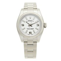 Rolex Lady Oyster Perpetual Stainless Steel White Automatic...