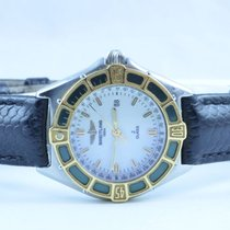 Breitling Lady J Damen Uhr + Gold Lünette + Top Zustand Weiss...