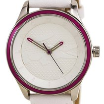 Lacoste Victoria Steel Womens Fashion Watch White Strap Pink...