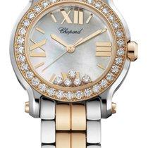 Chopard Happy Sport 30mm Gold Diamonds Lady