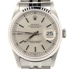 Rolex Stainless Steel Datejust Watch W/silver Dial 16234