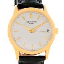 Patek Philippe Calatrava 18k Yellow Gold Automatic Mens Watch...