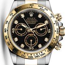 勞力士 (Rolex) Cosmograph Daytona Steel Gold Black Diamond Dial