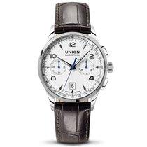Union Glashütte Noramis Chronograph Neuheit 2015 weiß Lederband