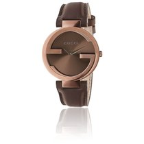 Gucci Interlocking Cadran Brun 37 mm Cuir YA133309
