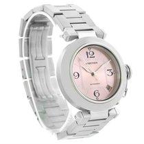 Cartier Pasha C Steel Pink Dial Ladies Watch W31075m7
