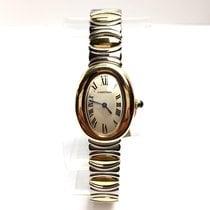 Cartier Baignoire 2 Tone Quartz Ladies Watch 18k Gold &...