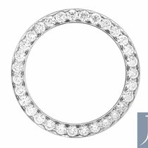 Jewelry Unlimited Solid White Gold Bead Set Diamond Bezel for...