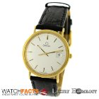 Omega Authentic Pre-Owned Vintage 18K Yellow Gold Quartz Date