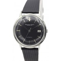 IWC Men's Vintage IWC Stainless Steel Automatic Black Dial