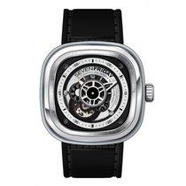 Sevenfriday P1B-01 Automatic Black Calfskin Men's Watch