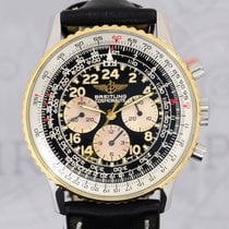Breitling Navitimer Cosmonaute Chronograph Stahl Gold B+P...