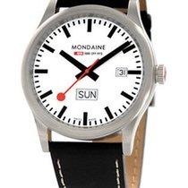 Mondaine Sport I Gents Day Date Watch - White Dial - Black...