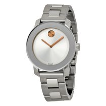 Movado Bold Silver Dial Stainless Steel Watch 3600084