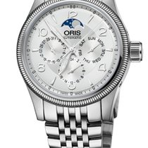 Oris Big Crown Complication, Day, Moon Phase, Silver, Stl