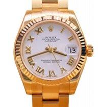 Rolex Datejust 178278 Ladies 31mm White Roman Yellow Gold 2017