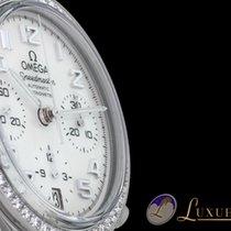 Omega Speedmaster Chronograph Perlmutt Diamantlünette Edelstah...