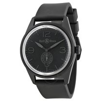 Bell & Ross Vintage Automatic Black Dial Black Rubber...