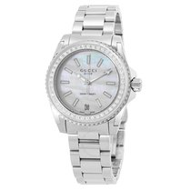 Gucci Dive Mother Of Pearl Dial Stainless Steel Ladies Watch