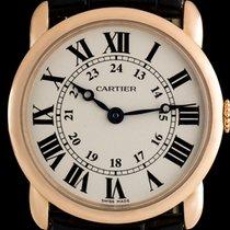 Cartier 18k Rose Gold Silver Roman Dial Ronde Louis Ladies...