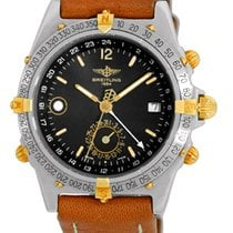 "Breitling ""Windrider Duograph"" GMT Strapwatch."