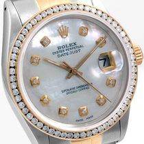 Rolex 36mm Datejust Custom  MOP & CH Set Diamond Bezel...