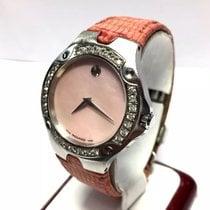 Movado Sports Edition Ss Ladies Watch W/ Factory Diamonds G Vs...