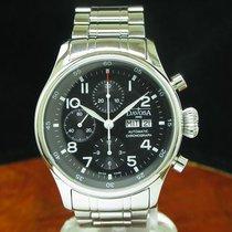 Davosa Pilot Chronograph Day Date Edelstahl Automatic Herrenuh...