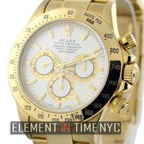 Rolex Daytona 18k Yellow Gold Zenith Movement White Dial Ref....