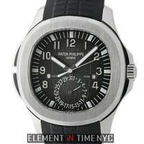 Patek Philippe Aquanaut Travel Time Stainless Steel Black Dial...