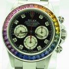 Rolex Daytona Steel Zenith 16520 Rainbow Custom Diamond Dial...