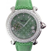 Chopard Happy Sport Lucky Clover in White Gold with Diamond Bezel