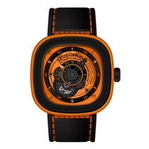 Sevenfriday Men's P1/3 Kuka  Orange Automatic Black Watch