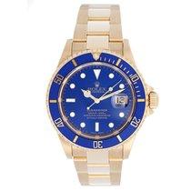 Rolex Submariner 18k Gold Men's Watch 16618